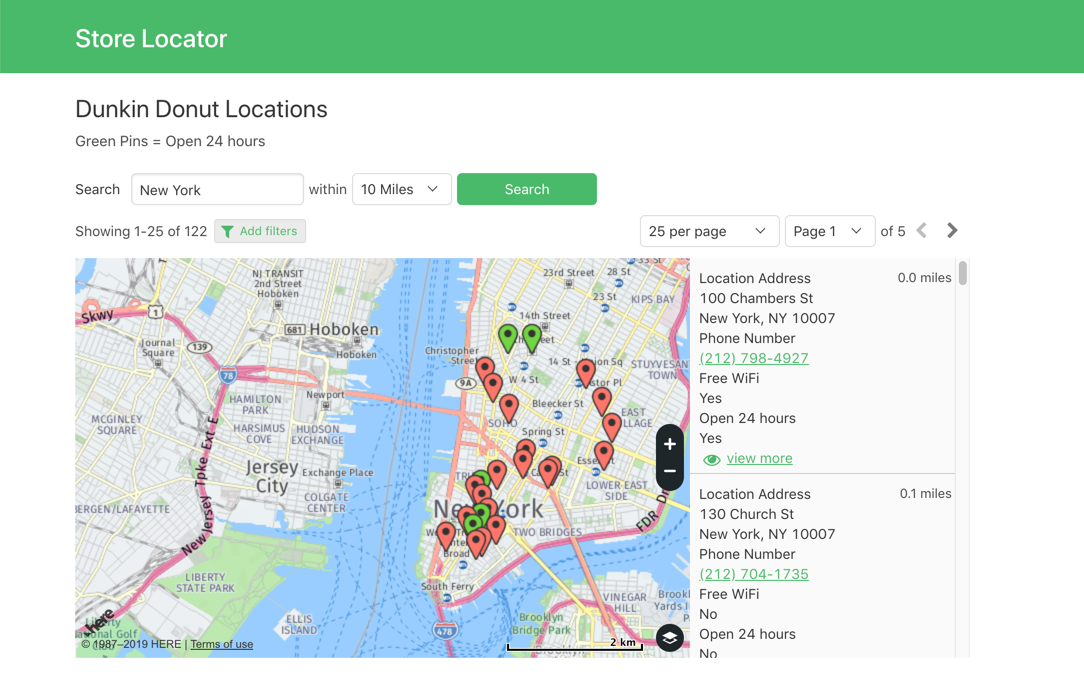 Search a live map of all locations.
